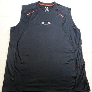 Oakley Hydrolix Regular Fit Black Tank Top X-Large
